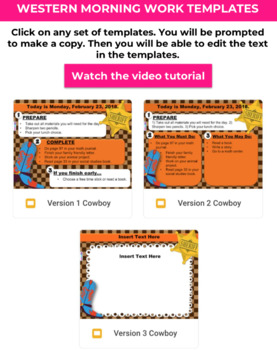 Editable WESTERN GOOGLE SLIDES Templates