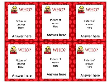 Editable WH question Task Cards {FREEBIE}