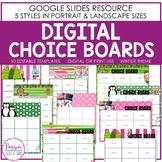 Editable WINTER Themed Digital Choice Boards
