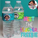 Editable Water Bottle Label Freebie