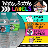 Editable Water Bottle Labels