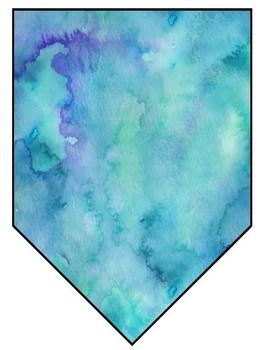 Editable Watercolor Banner Classroom Decor