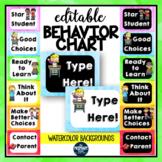 EDITABLE Behavior Chart