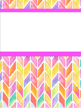 Editable Watercolor Binder Covers