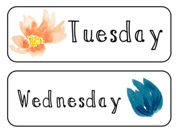 Editable Watercolor Class Labels Bundle