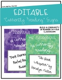 """Editable Watercolor """"Currently Reading"""" Signs"""