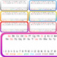 Editable Watercolor Desk Name Tags/ Desk Name Plates