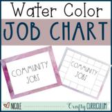 Editable Watercolor Job Chart