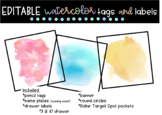 Editable Watercolor Labels **a growing BUNDLE**
