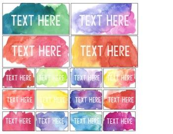 Editable Watercolor Rainbow Organization Sterilite Labels