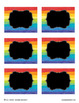 Editable Watercolor Rainbow Tags for Name Tags, Classroom Signs {black}