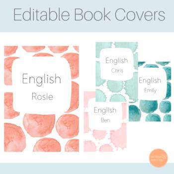 Editable Watercolour Book Covers
