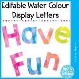 Editable Watercolour Letters