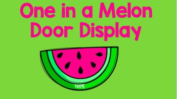 Editable Watermelon Door Decor