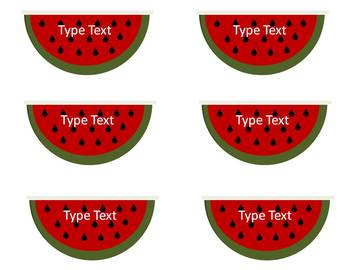 Editable Watermelon Summer Labels for you Classroom and Home!