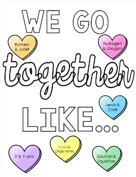 Editable We Go Together Like.. Bulletin Board Kit