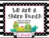 Editable - We are a Sharp Bunch Back To School Bulletin Board