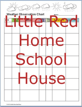 Editable Weather Chart Notebook Page Printable ~ All Grades!