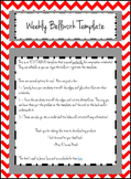 Editable Weekly Bellwork, Bell Ringer, Warmup Template for Notebooks