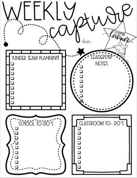 Editable Weekly Capture Organizer