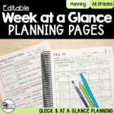 Editable Weekly Curriculum Planning Map