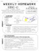 Editable Weekly Homework Layouts - Vertical and Horizontal
