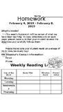 Editable Weekly Homework Letter