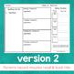 Weekly Homework Template EDITABLE in 2 Versions