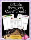 Editable Homework Covers Set 2