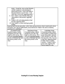 Editable Weekly Lesson Plan:  Fairy Tales