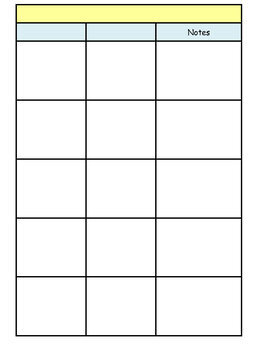 Editable Weekly Lesson Plan Template with 1st Grade Standards