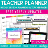 Editable Weekly Lesson Plan Templates 2021 | Teacher Planner Pages and Forms