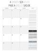 Editable Weekly Lesson Planner Teacher Planner 17-18: Soft Grey