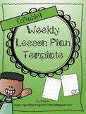Editable Weekly Lesson Plans