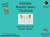 Editable Weekly News Schedule