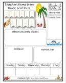 Beach Theme Editable Weekly Newsletter