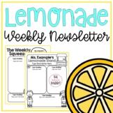 Editable Weekly Newsletter Lemonade Theme