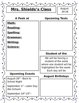 Editable Weekly Newsletters