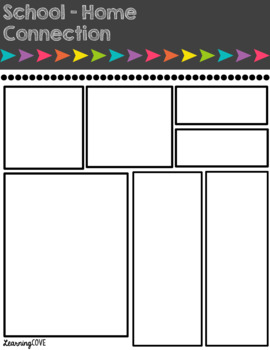 Editable Weekly Newsletters - 26 Styles! - School - Home Connection