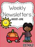 FREE Editable Weekly Newsletters [Aug-June]