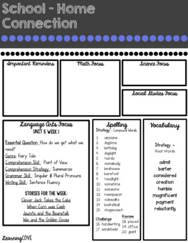 Editable Weekly Newsletters McGraw Hill Wonders - Grade 3 BUNDLE Units 1-6