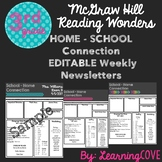 Editable Weekly Newsletters for McGraw Hill Wonders - Grad