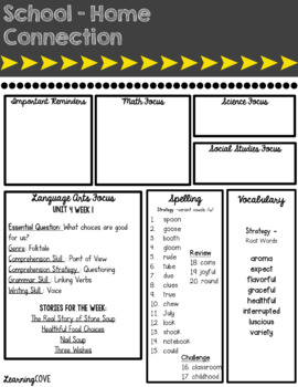Editable Weekly Newsletters for McGraw Hill Wonders - Grade 3 Unit 4