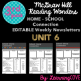Editable Weekly Newsletters for McGraw Hill Wonders - Grade 3 Unit 6