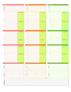 Editable Weekly Planner