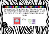 Editable Weekly Planner Template
