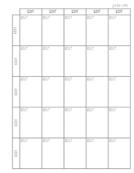 Editable Weekly Planning Pages