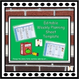 Editable Weekly Planning Sheet Template