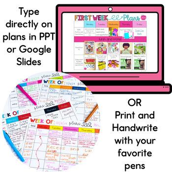 Editable Weekly Plans Template