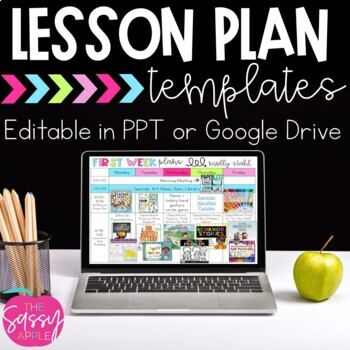 Lesson Plan Template Editable Teaching Resources Teachers Pay Teachers